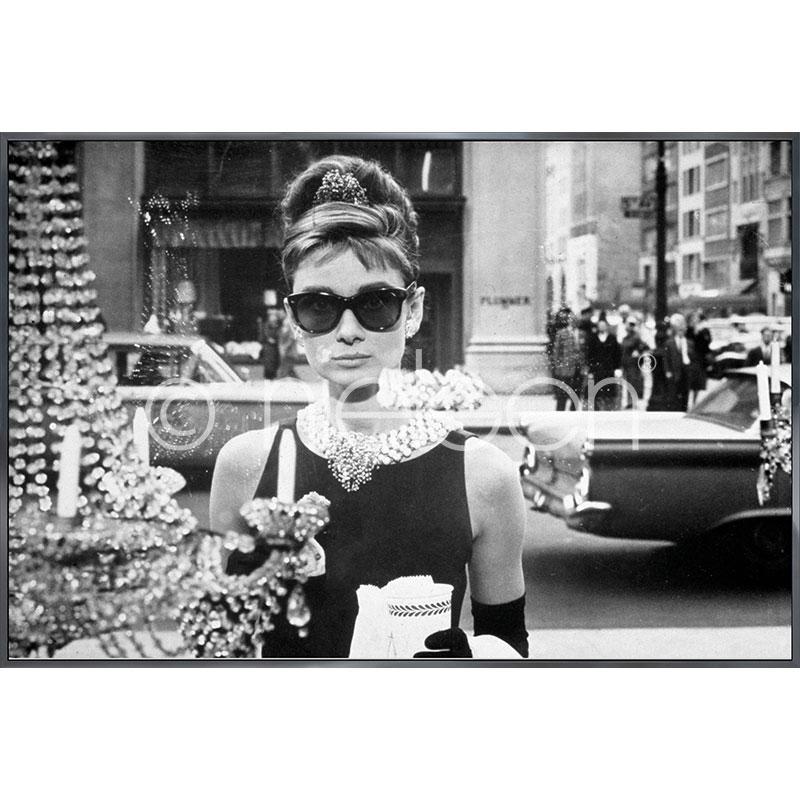 """Indrammet billede """"Audrey Hepburn"""" med aluramme Alpha"""
