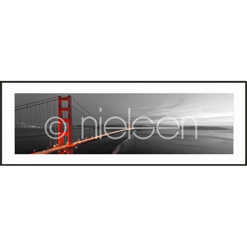 """Indrammet billede """"Golden Gate Bridge"""" med aluramme C2"""
