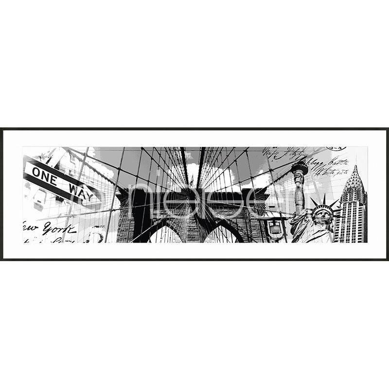 "Indrammet billede ""Brooklyn Bridge"" med aluramme C2"