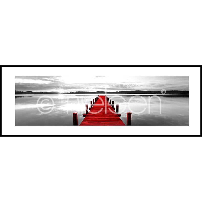 """Indrammet billede """"Footbridge red"""" med aluramme C2"""
