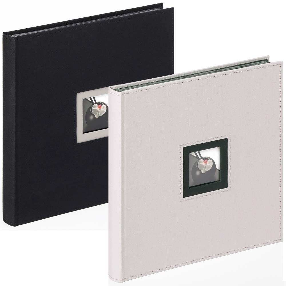 """Fotoalbum """"Black & White"""" til at klæbe billeder ind i, 30x30 cm"""