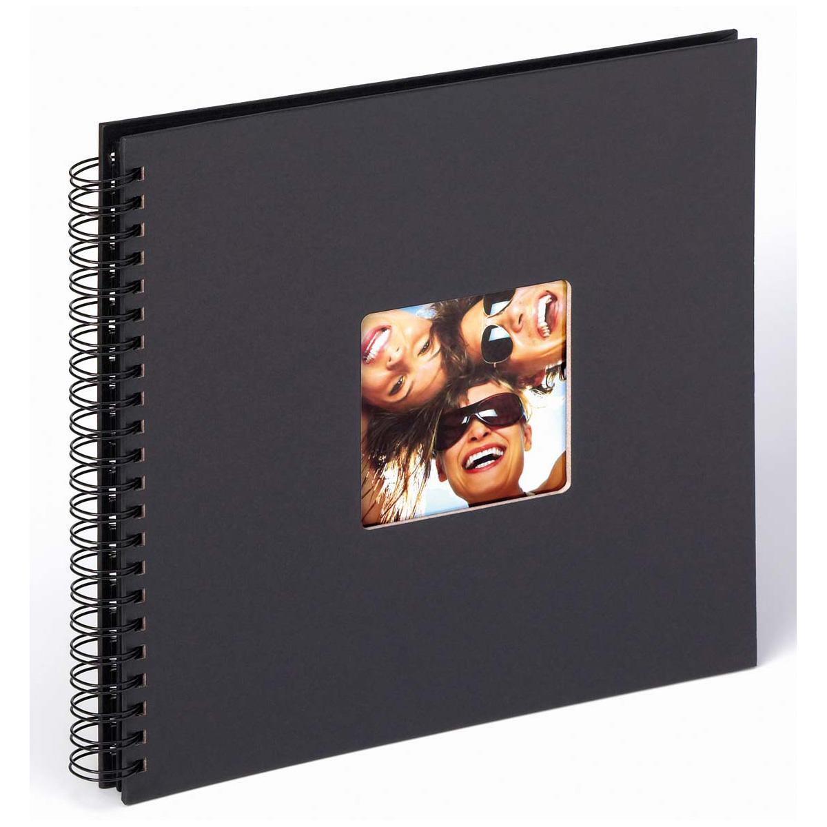 """Spiralalbum """"Fun"""" til at klæbe billeder ind i , 30x30 cm 30x30 cm   sort"""