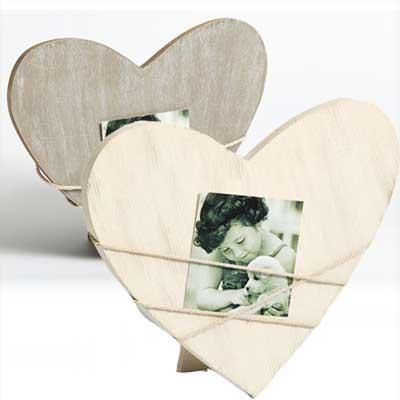 Portrætramme Bella 2, hjerteformet, grå